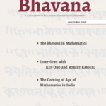 The background image on the cover, centred on the word bhāvita, is of a Sanskrit verse from Brāhma-sphuṭa-siddhānta of Brahmagupta. courtesy Indira Gandhi National Centre for the Arts, Southern Regional Centre, Bangalore cover design Rajaneesh Kashyap