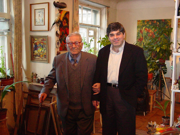 Takhtajan with his father Armen in 2003 courtesy Leon Takhtajan
