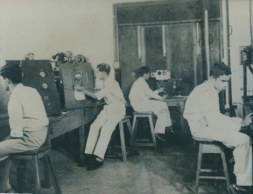 RN (extreme right) with classmates at IISc. courtesy Roddam Narasimha