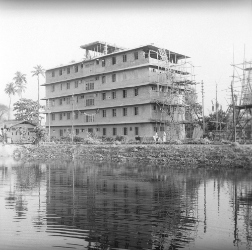 The R.A. Fisher building at ISI Kolkata while under construction in 1950. ISI Archive