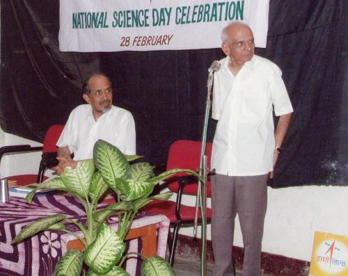 RN with his teacher S. Venkataramaiahcourtesy Roddam Narasimha