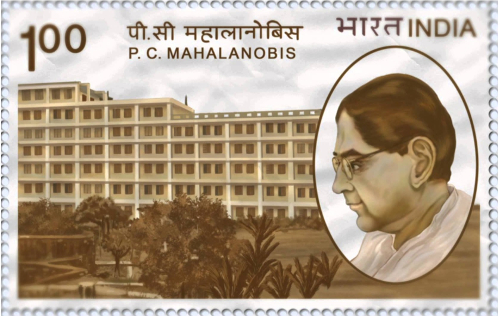 Commemorative postage stamp issued by India Post on the 100th birth anniversary of Mahalanobis in 1993© India Post