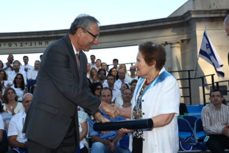 Marina Ratner being awarded the Honorary Doctorate of the Hebrew University of Jerusalem, June 2013.Sasson Tiram/The Hebrew University of Jerusalem