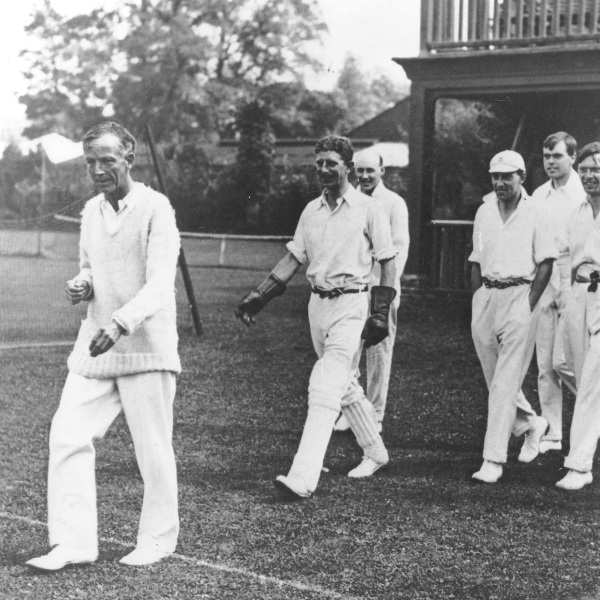 Hardy leads a team of Mathematicians versus The Rest of The World during a British Association meeting in Oxford in August 1926. His team included Titchmarsh, Bosanquet, Linfoot and Ferrar. The Mathematical Institute, University of Oxford