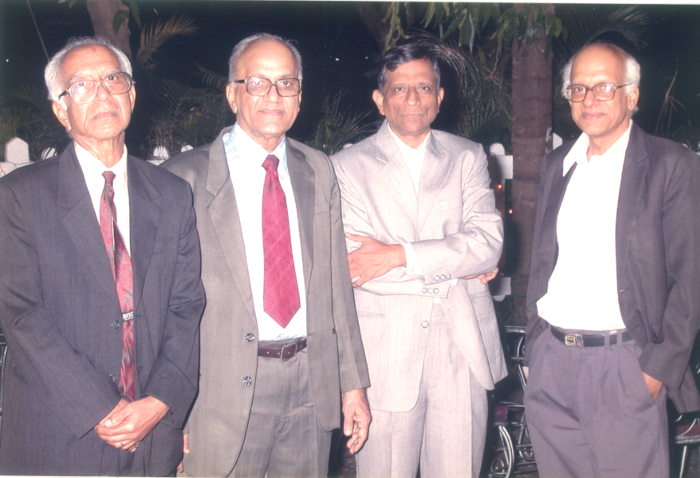 (Left to right): M.S. Narasimhan, C.S. Seshadri, S. Ramanan and M.S. Raghunathan courtesy C.S. Seshadri