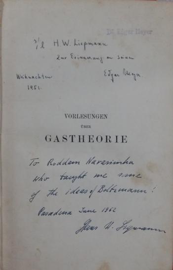 Liepmann-Boltzmann-Narasimha