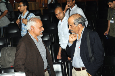 RN with K.R. Sreenivasan at the IISc centenary conference, 2009 courtesy Roddam Narasimha