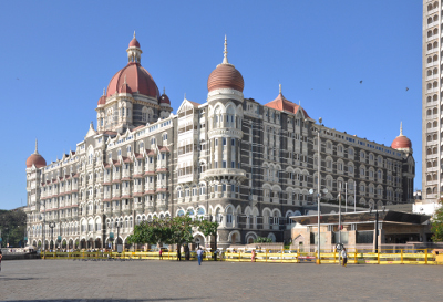 The Taj Mahal Palace Hotel in Mumbai Joe Ravi via Wikimedia Commons