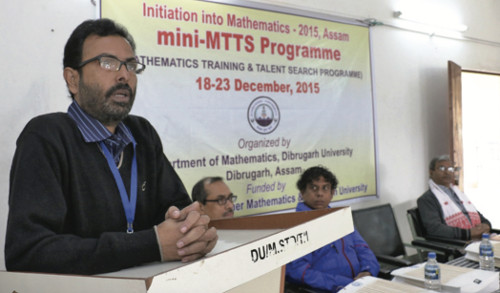Bhaba Kumar Sarma at a mini MTTS camp in Dibrugarh, 2015 courtesy Ajit Kumar/MTTS