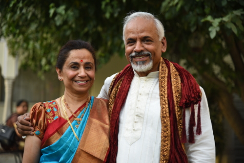 KRS with his wife Sudha courtesy K.R. Sreenivasan