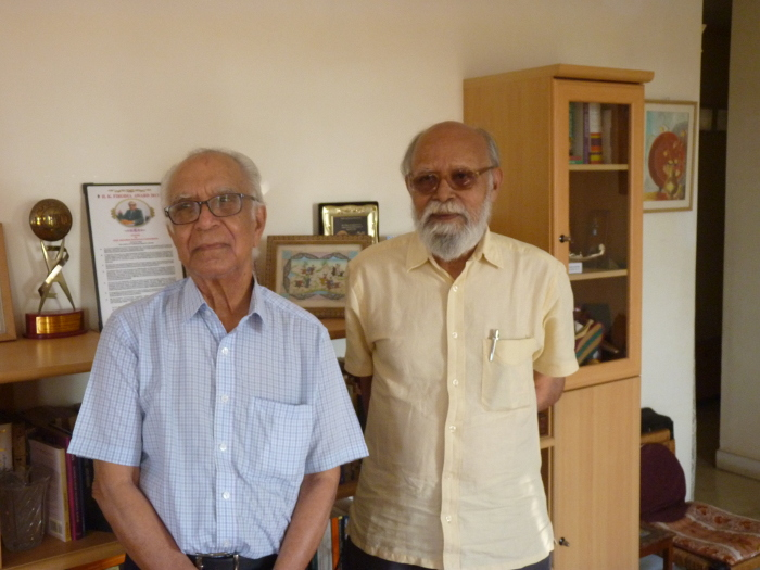 A friendship that helped build bridges between disciplines---MSN with Divakaran, at MSN's home in Bengaluru. Nithyanand Rao