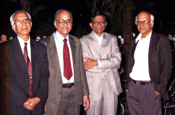 "The ""fab four'"", in 2004. From left to right: M.S. Narasimhan, C.S. Seshadri, S. Ramanan, M.S. Raghunathan. TIFR Archives"