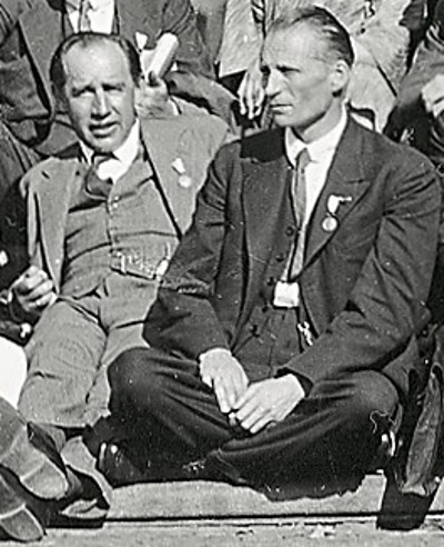 L.E.J. Brouwer (right) Wikmedia Commons