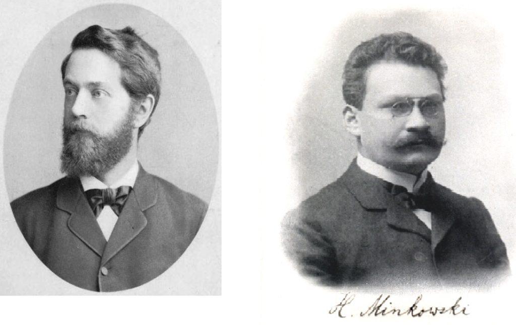 Felix Klein (left) and Hermann Minkowski (right)  Wikimedia Commons