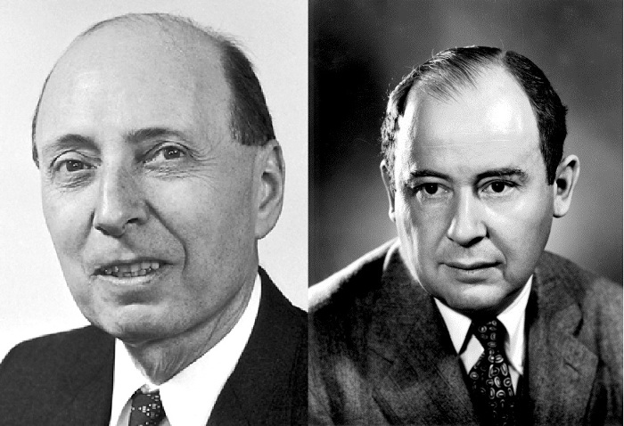 Eugéne Wigner and J.von Neumann Wikimedia Commons